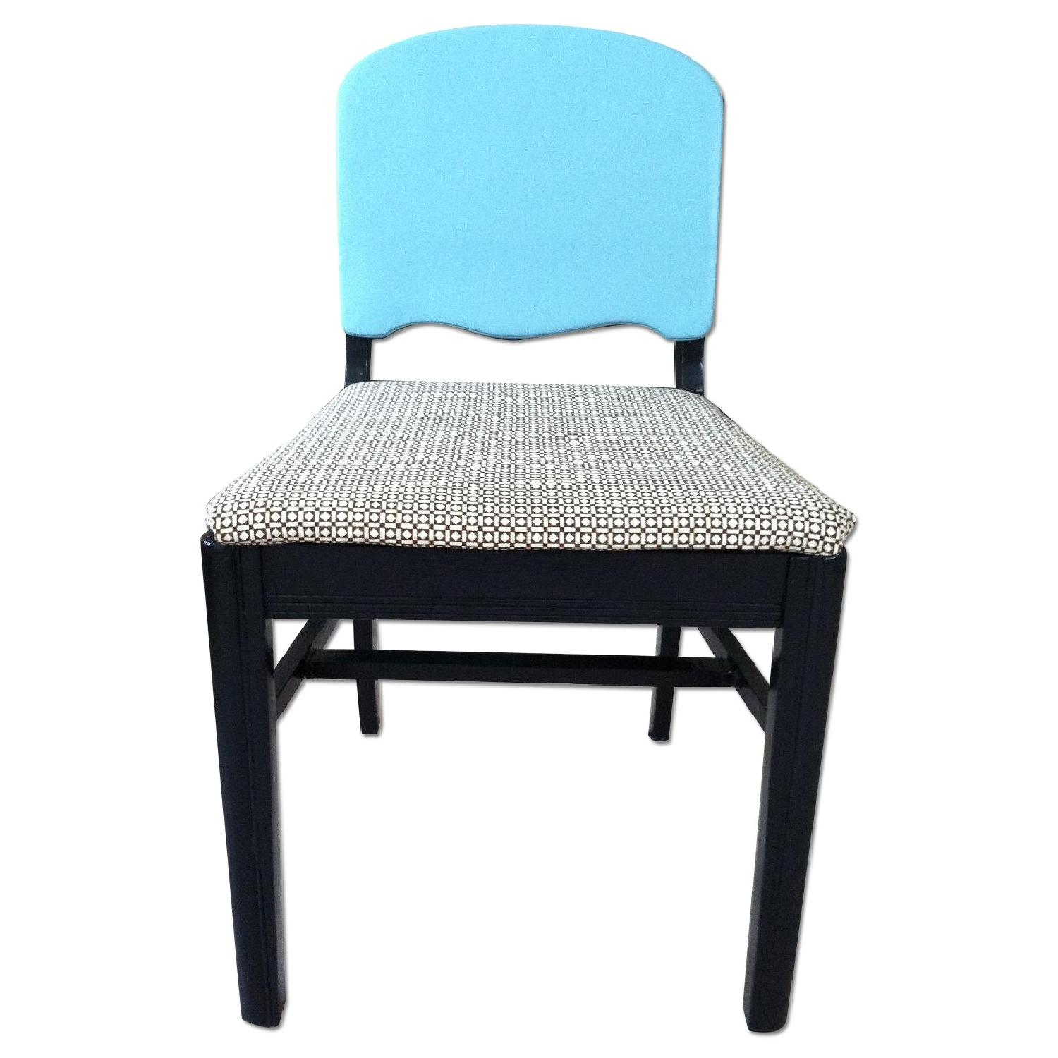 Vintage Accent Chair Vintage Black Blue Accent Chair