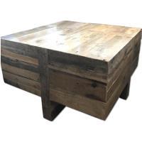 West Elm Reclaimed Wood Block Side/Coffee Table - AptDeco
