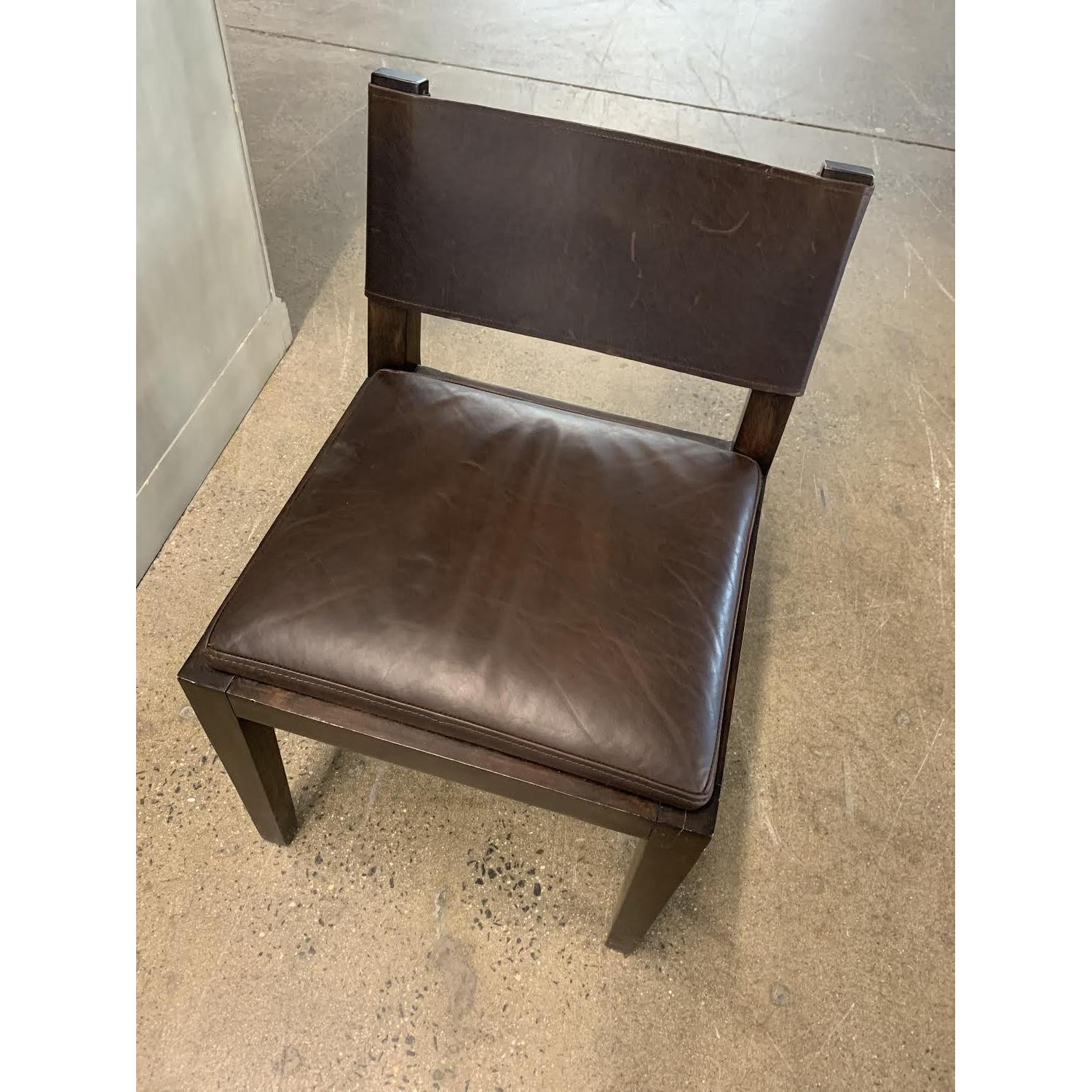 Restoration Hardware Leather Chairs Restoration Hardware Saddle Leather Side Chair