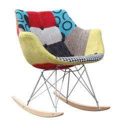 Ab Rocker Chair 24 Hour Rocking W Colorful Fabric Print In Abs Frame Aptdeco