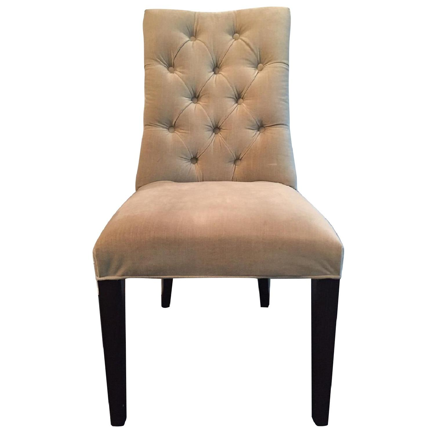 Restoration Hardware Dining Chairs Restoration Hardware Martine Velvet Tufted Dining Chairs