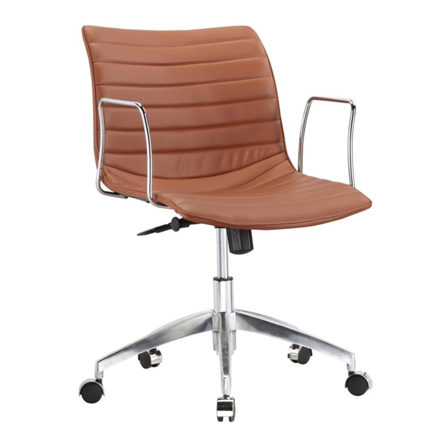 Contemporary Office Chairs Modern Mid Back Office Chair W Chrome Arms And Light Aptdeco