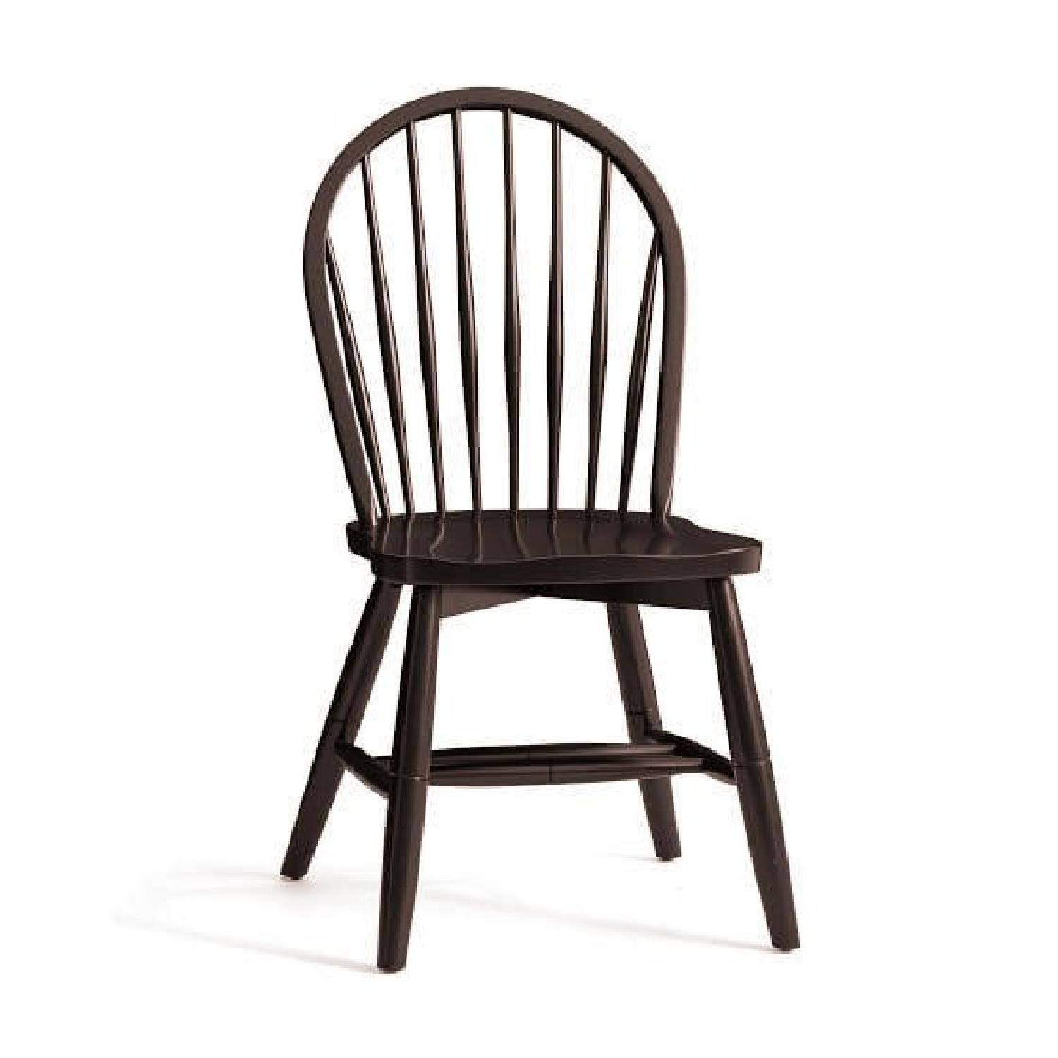 Windsor Chairs Black Pottery Barn Windsor Dark Wood Dining Chairs