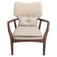 Solid Wood Chairs Big Chair And Ottoman Mid Century Danish Modern Lounge Arm