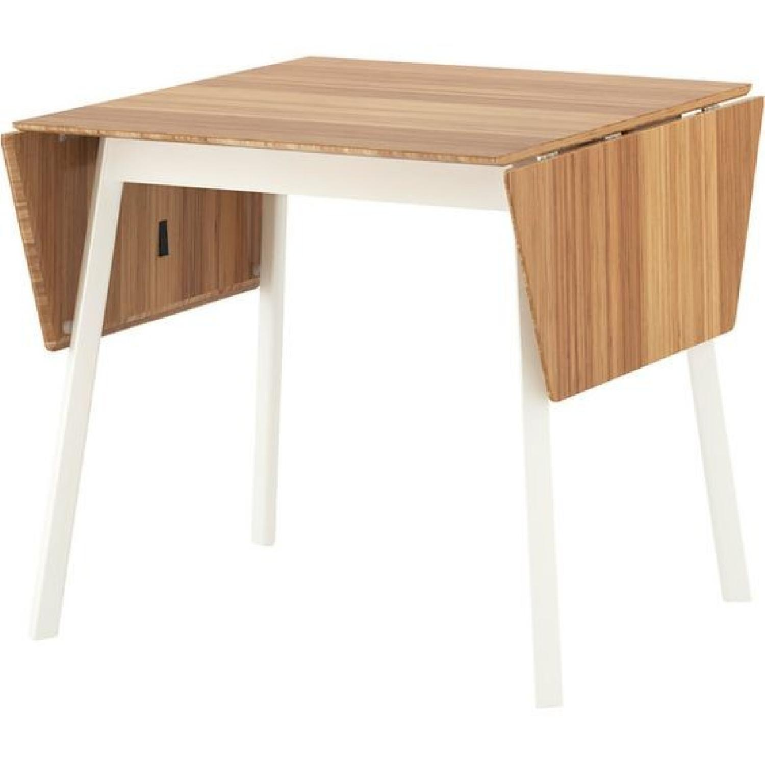 Ikea Bamboo White Dining Table