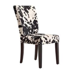 Black Parsons Chair Acrylic Clear Tribecca Home Cow Hide And White Dining Chairs