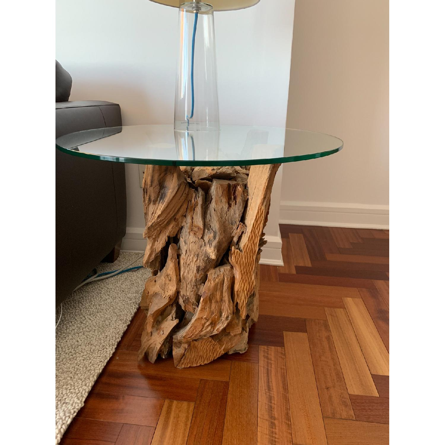 crate barrel driftwood end table