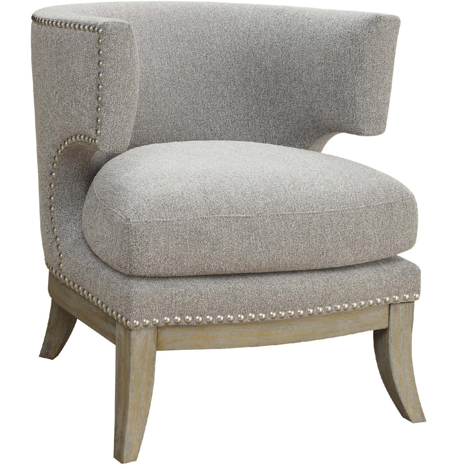 barrel accent chair osaki massage review back modern upholstered in grey aptdeco