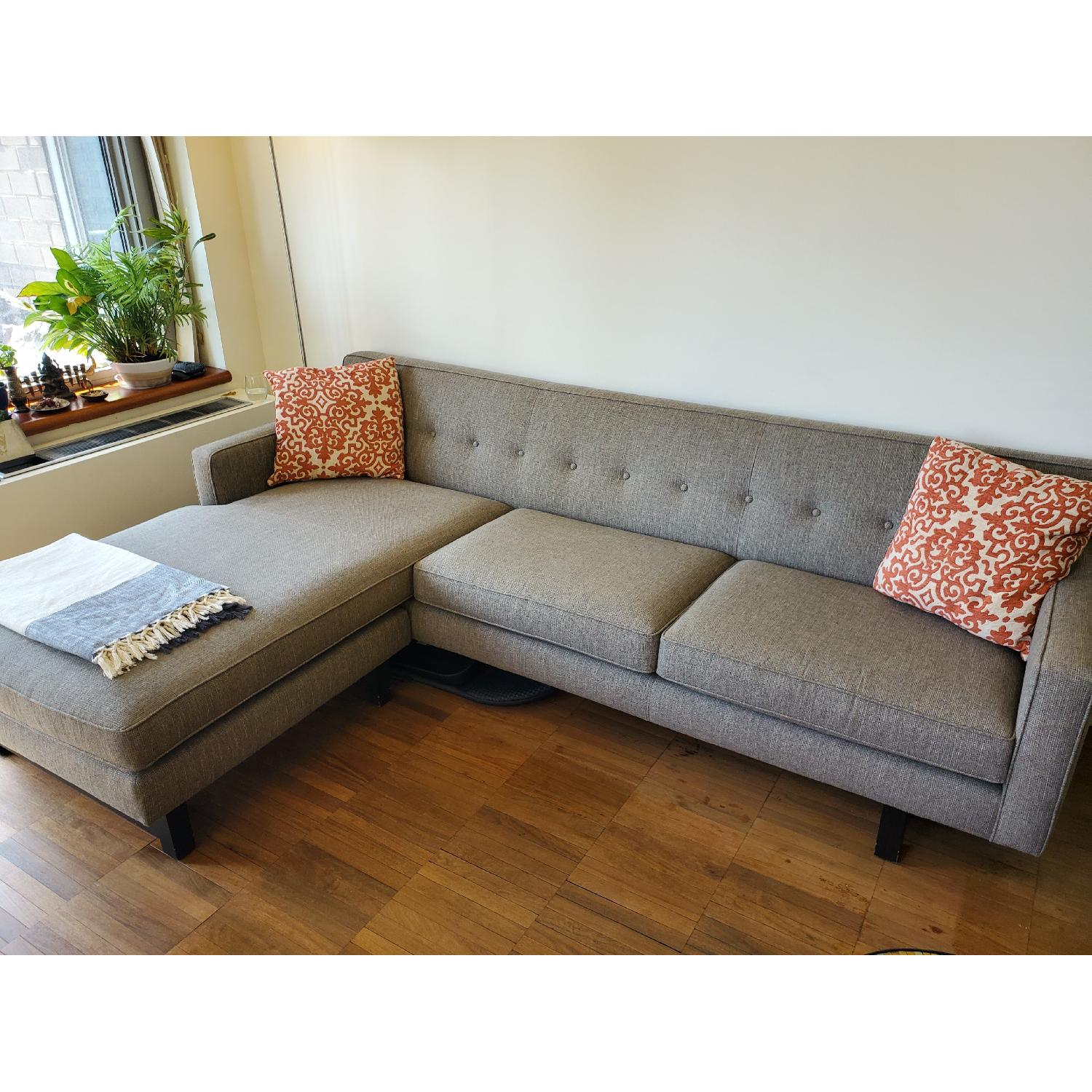 room board andre sectional sofa w reversible chaise