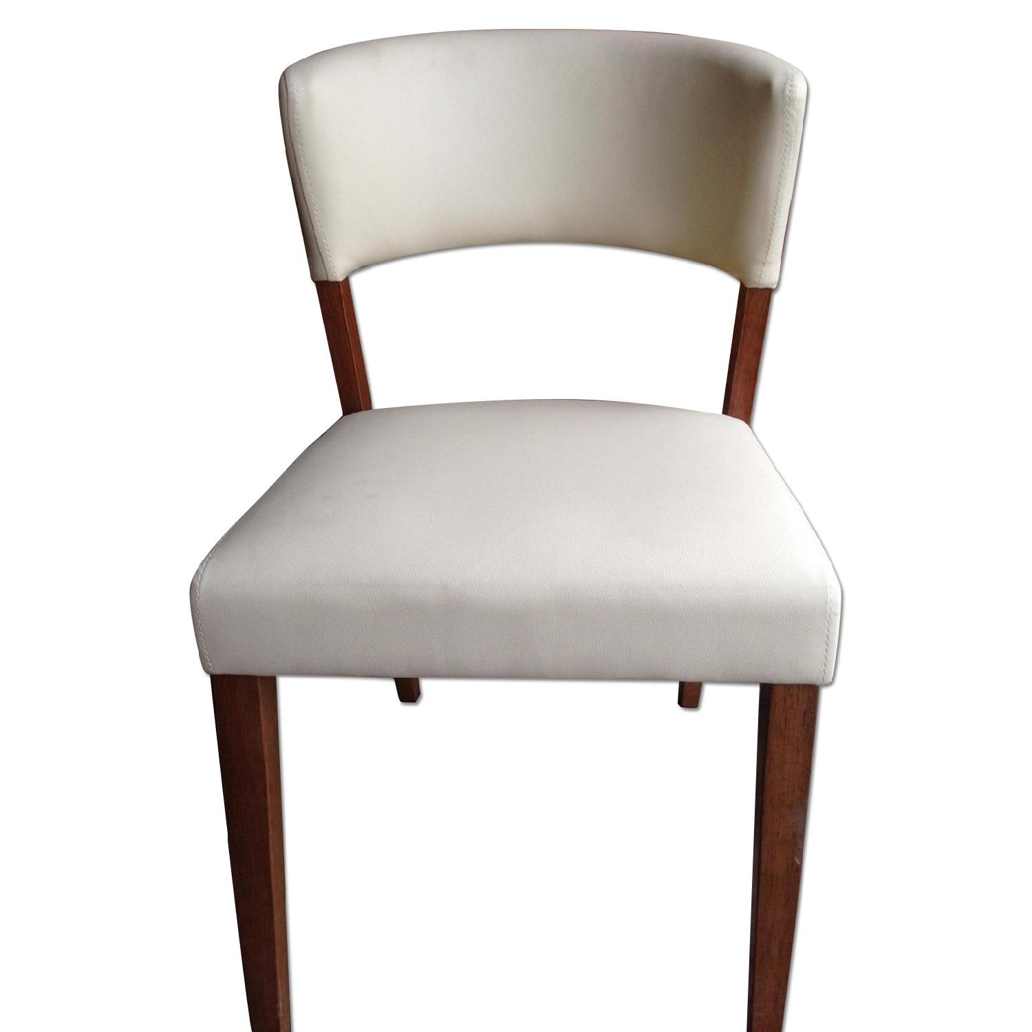 cream upholstered dining chairs pictures of in bathrooms mid century style chair w walnut color frame aptdeco