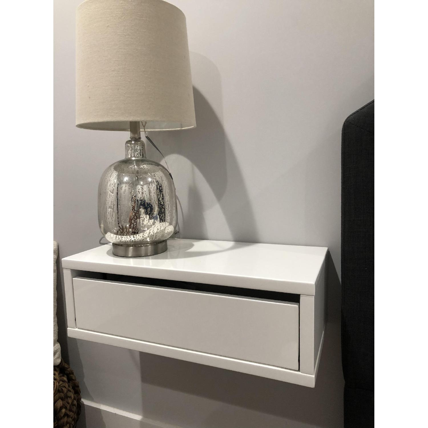 Cb2 Floating Storage Shelf Nightstand