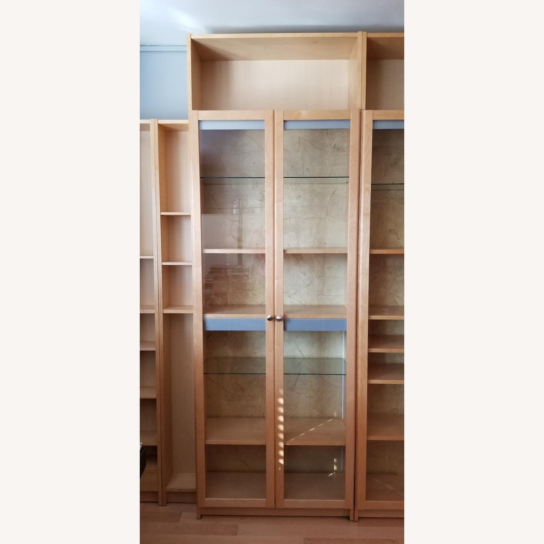 Ikea Custom Glass Door Bookcase Aptdeco
