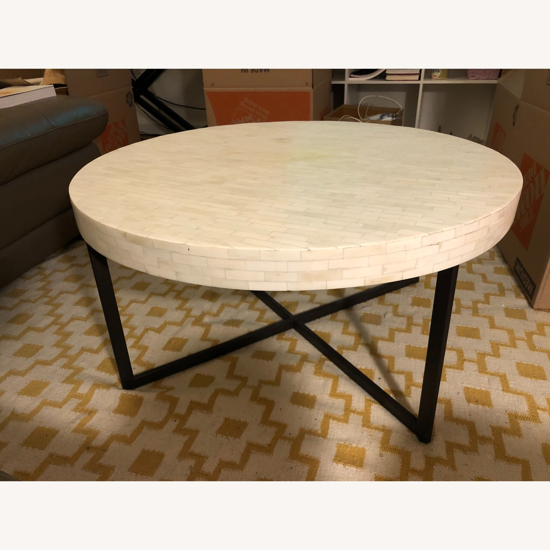 west elm bone inlay round coffee table