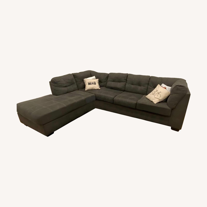 ashley furniture maier charcoal laf corner chaise raf sofa