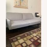 Target Light Gray Futon Couch Aptdeco