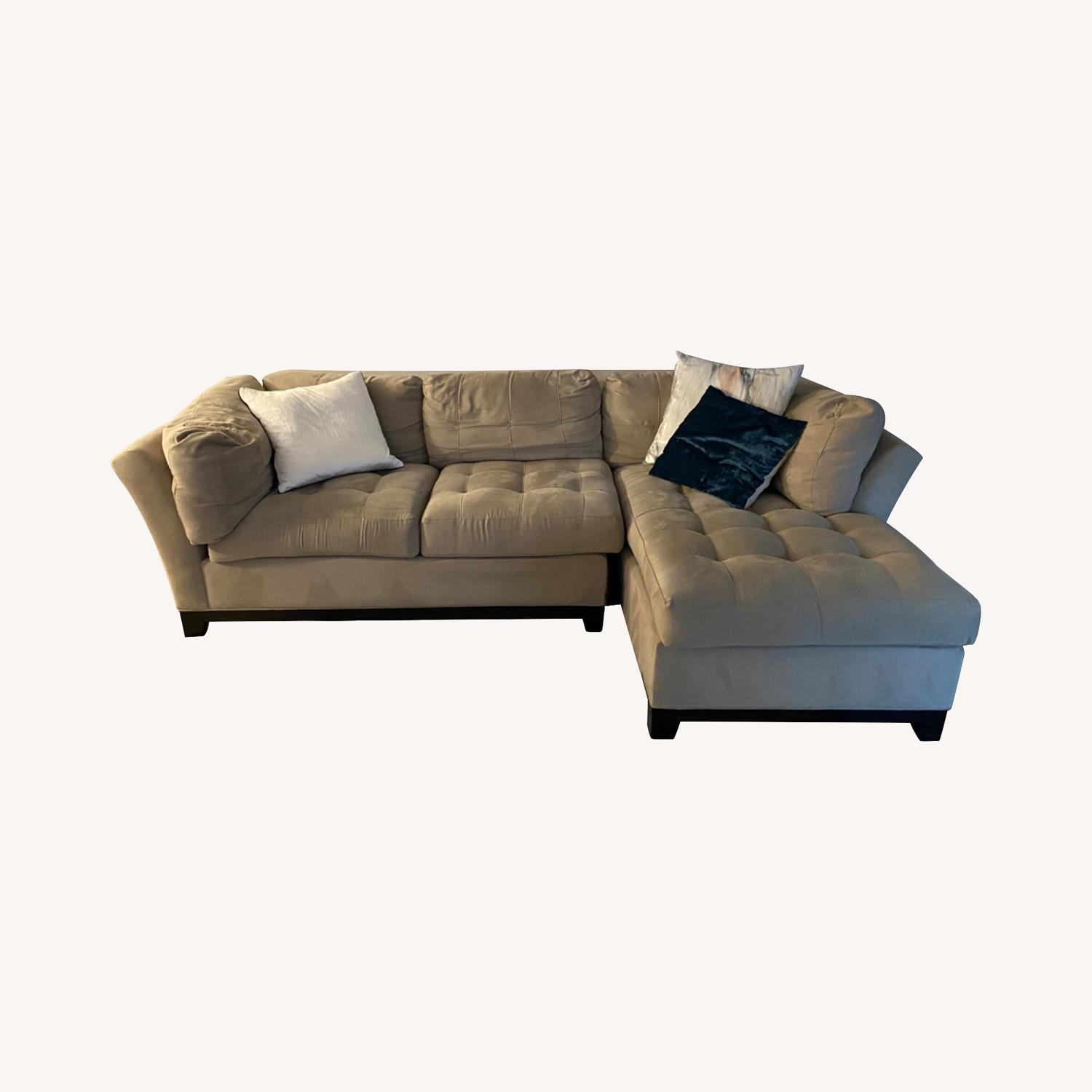 raymour flanigan 2 piece right hand sectional sofa