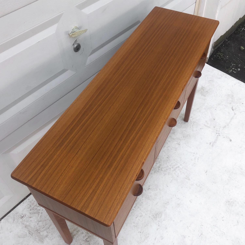 Danish Modern Teak Console Table Aptdeco
