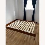 West Elm Simple Bed Frame Queen Acorn Aptdeco