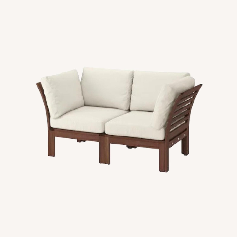 ikea patio set table 2 chairs sofa