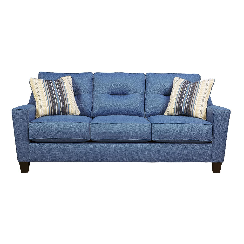 contemporary fabric sofas armen living barrister sofa blue ashley 39s 3 seater in aptdeco