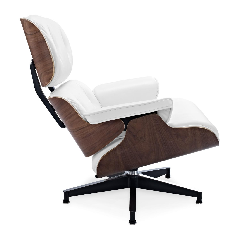 white eames lounge chair replica design autocad in aptdeco 0