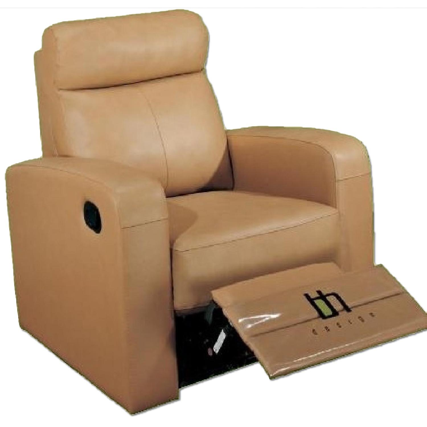 Double Recliner Chair Apartment Size Recliner Chair In Taupe Color Top Grain Leather W Double Leggett Platt Recliners