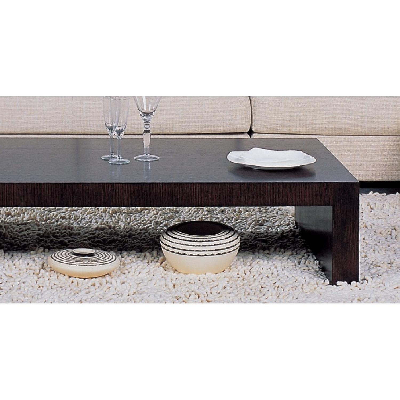 Modern Minimalist Style Coffee Table in Espresso Finish