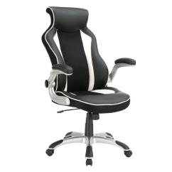 Race Car Office Chair Grey Accent Chairs With Arms Seat Style Modern Ergonomic In Aptdeco