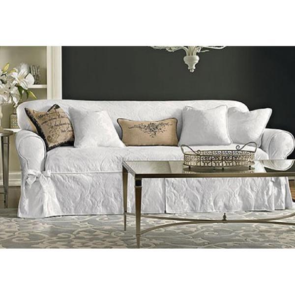 Surefit Matelasse Damask Piece Sofa Slipcover - Aptdeco