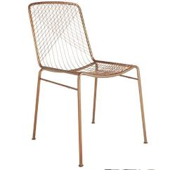 Mid Century Modern Wire Chair Stool Low Cb2 Beta Rose Gold Aptdeco