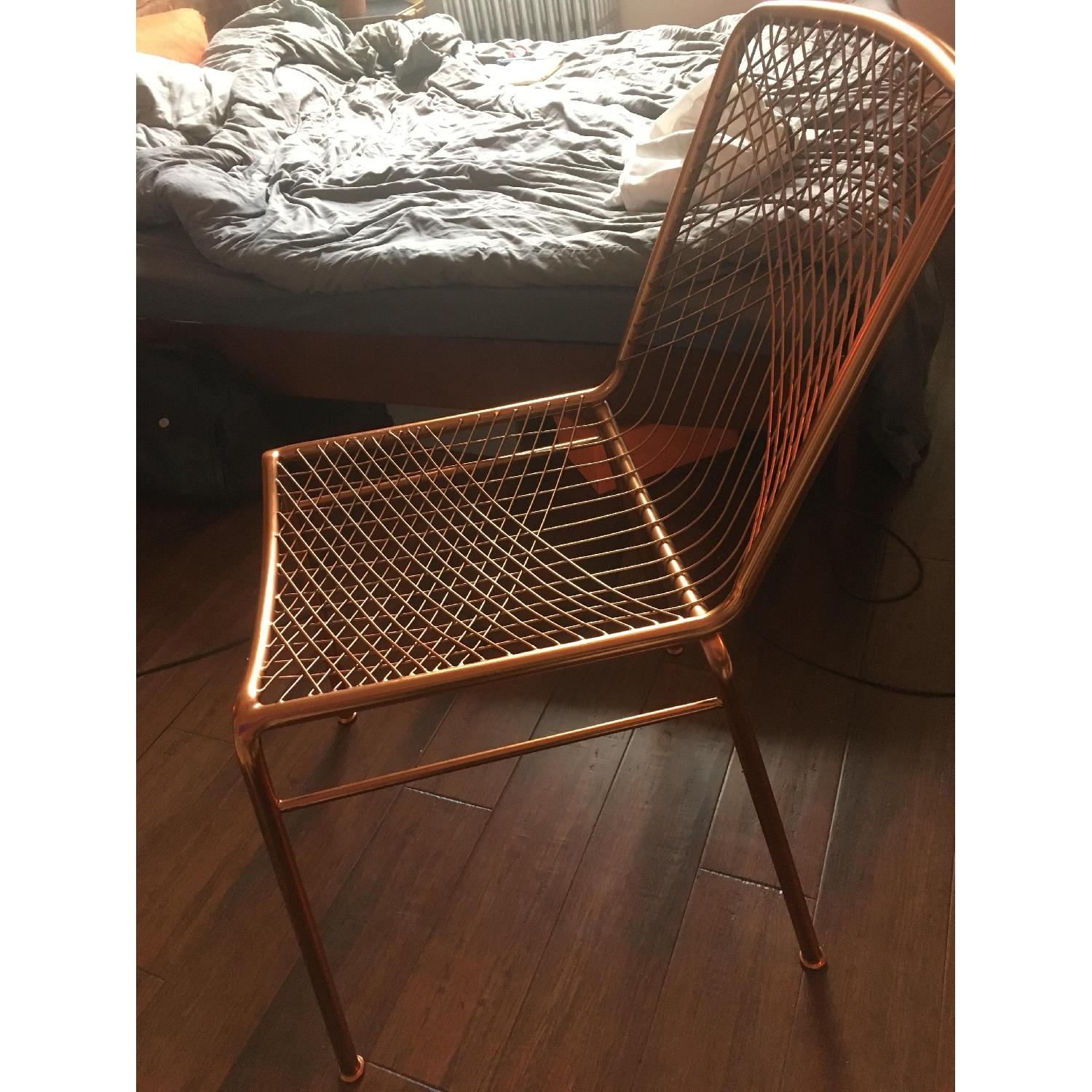 mid century modern wire chair black and white styling cb2 beta rose gold aptdeco