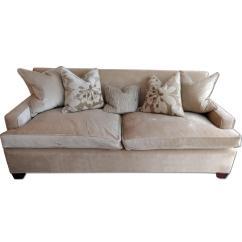 Down Wrapped Cushion Sofas Interchangeable Sofa Custom Made Edward Ferrell Beige Velvet W Aptdeco