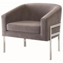 Modern Art Chair Covers And Linens Rolling Dining Chairs With Arms Contemporary Accent In Grey Linen W Exposed Aptdeco