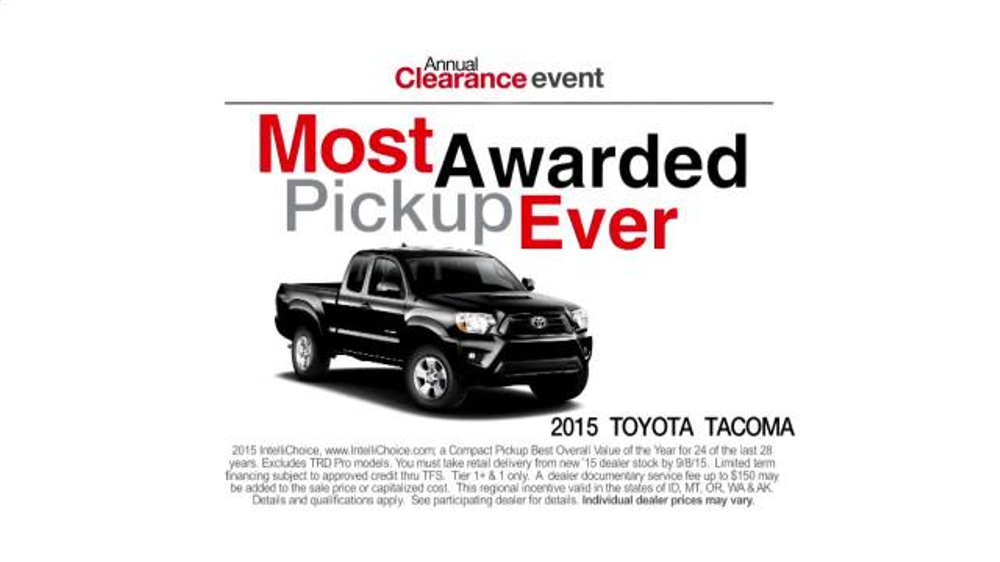 Toyota Annual Clearance Event TV Commercial, 'Great Story