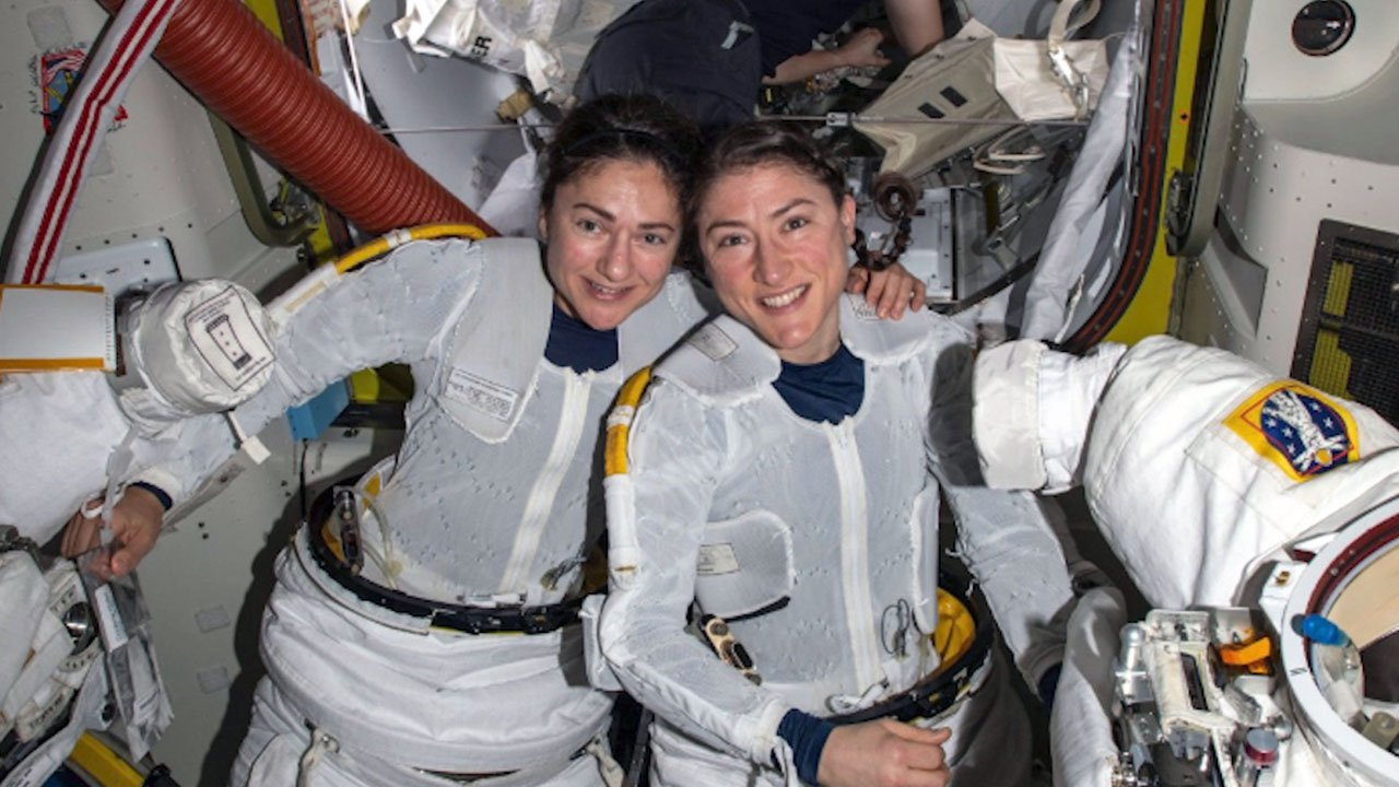 NASA Astronauts Complete First Ever All Female Space Walk A Plus Good News