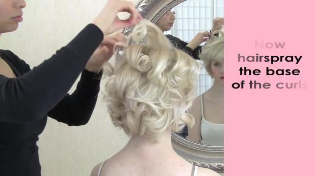 bridal hair tips - super short hair updo