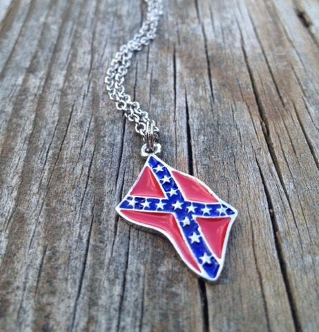 Rebel Flag Necklace on Luulla