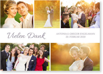Dankeskarten Hochzeit  Versandfertig in 24 Stunden