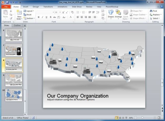 Originally designed for business organizations to run during group presentations, meetings and other events, p. Us Map Powerpoint Template