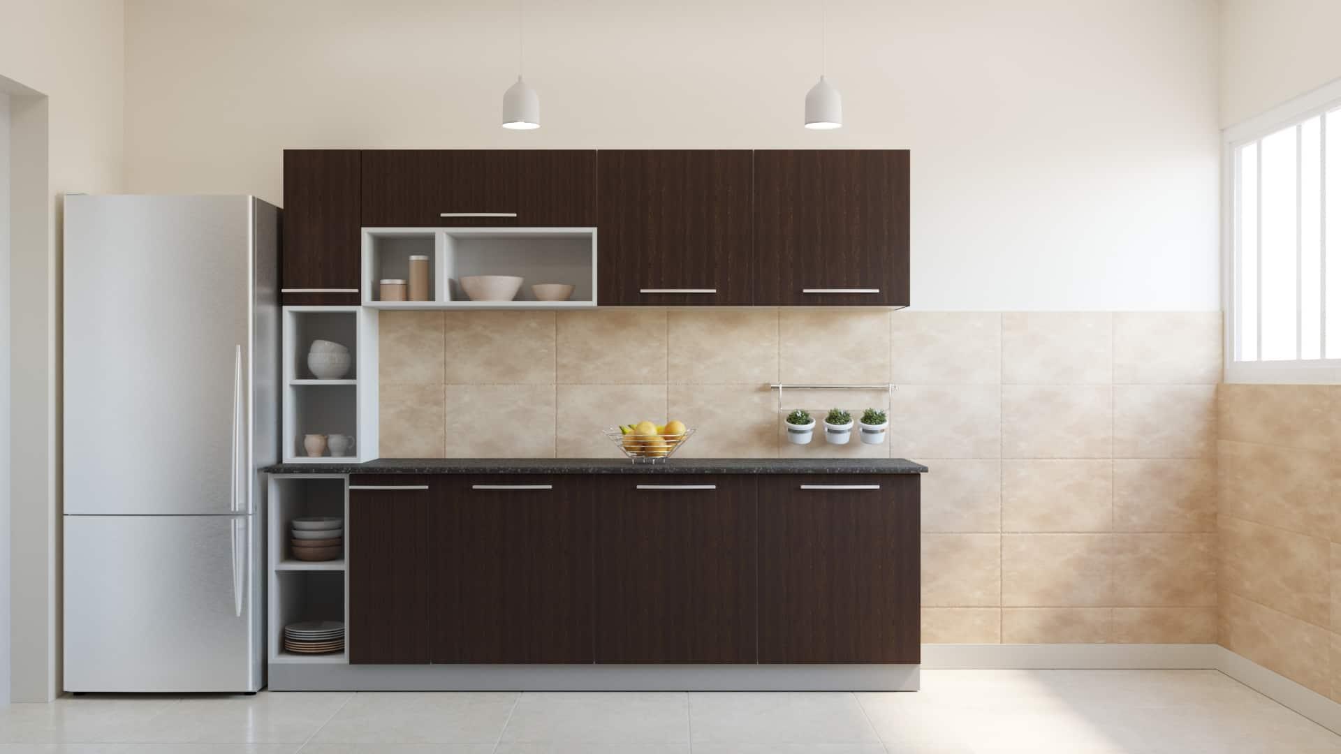 Nial L Shaped Modular Kitchen Designs India