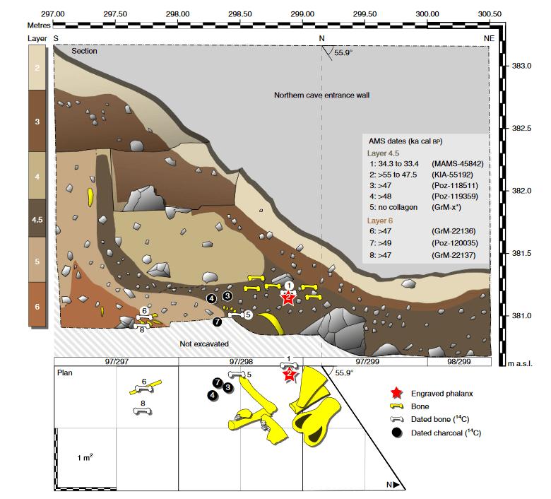 plano de la cueva