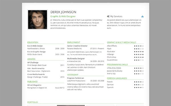 opera resume template