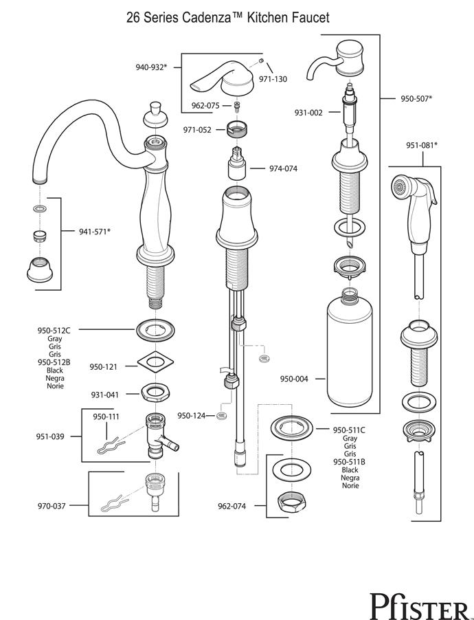 Price pfister 26 series parts