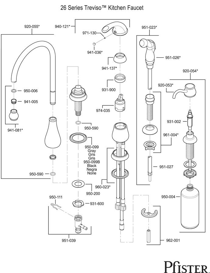 Pfister Kitchen Faucet Parts Diagram