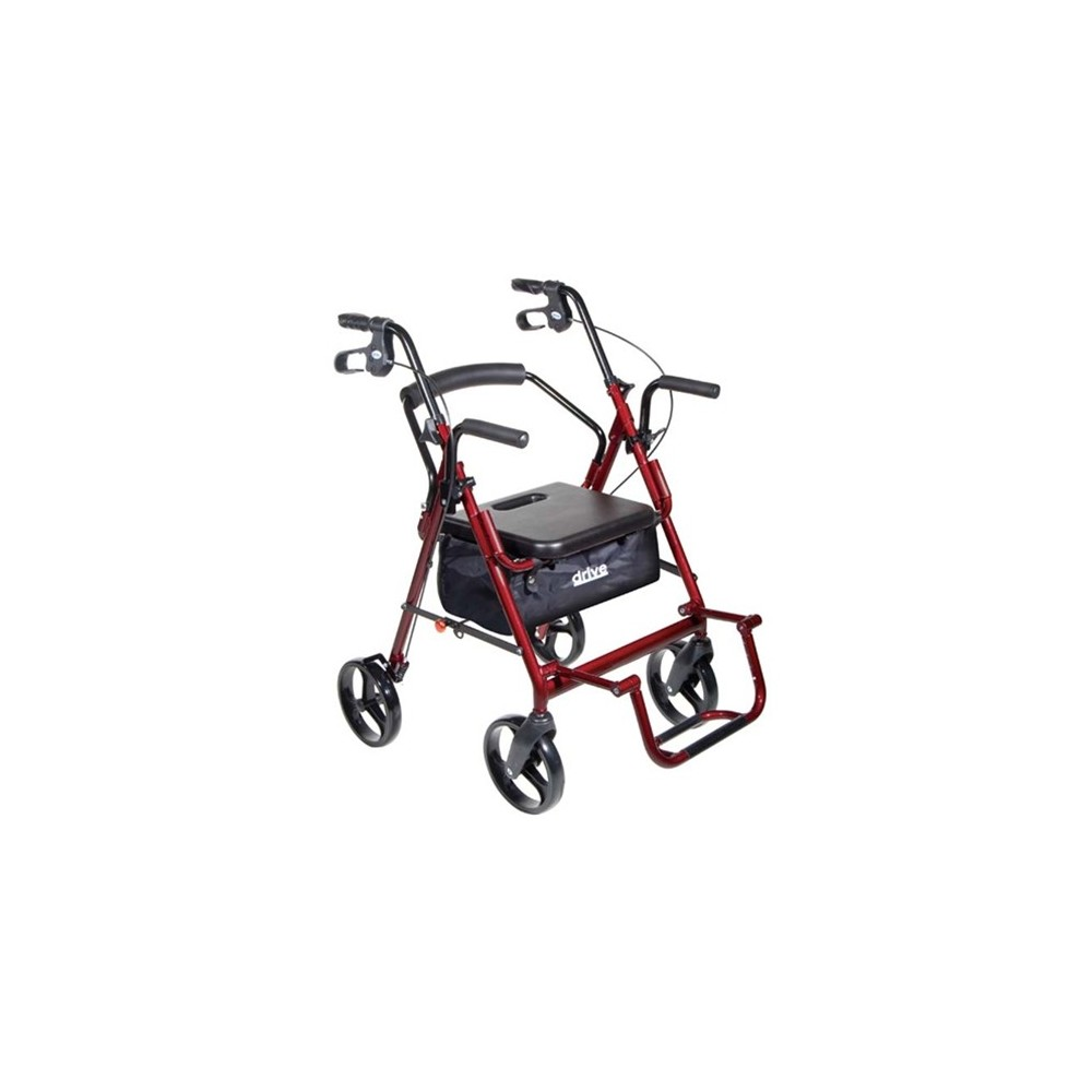 Drive Duet 4 Wheel Duet Rollator/Transport Chair
