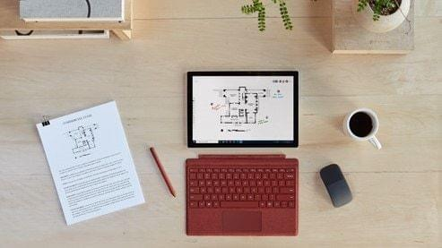 Microsoft's Surface Pro 7+. Source: Microsoft.