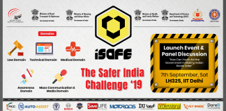 iSAFE The Safer India initiative 2019 A program that ignites the competitive spirit in the field of road safety
