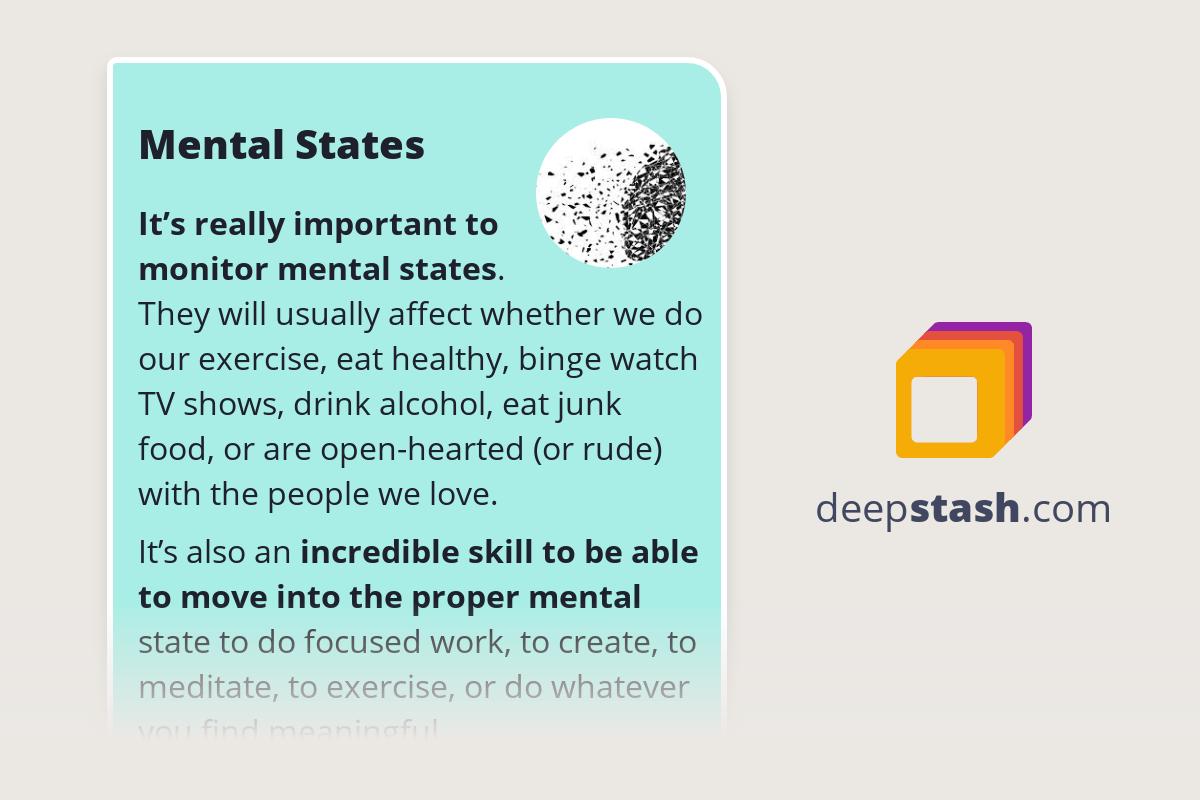Mental States - Deepstash