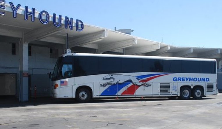 Calgary to Banff Greyhound bus