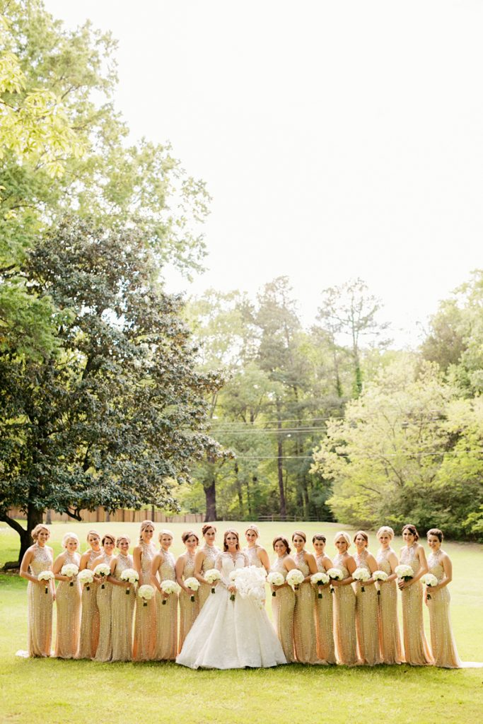 Collins Tuohy with bridemaids at Memphis wedding